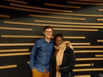 Pedro from EU-UNAWE and Irene Kibona from UNAWE-Tanzania