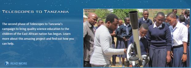 Telescopes to Tanzania