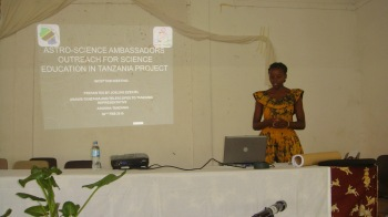 Joeline presenting the program